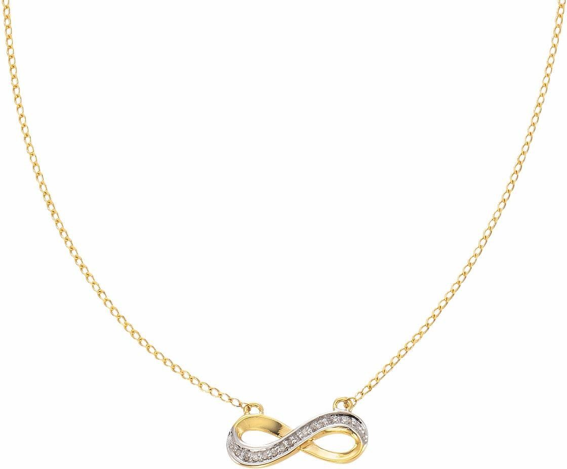 Vivance jewels Kette mit Anhänger »Infinity« mit Diamanten