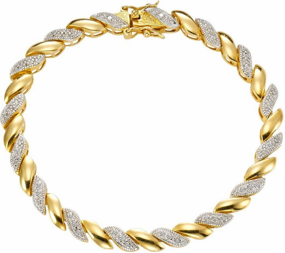 Vivance jewels Armband mit Diamanten in Silber 925-goldfarben