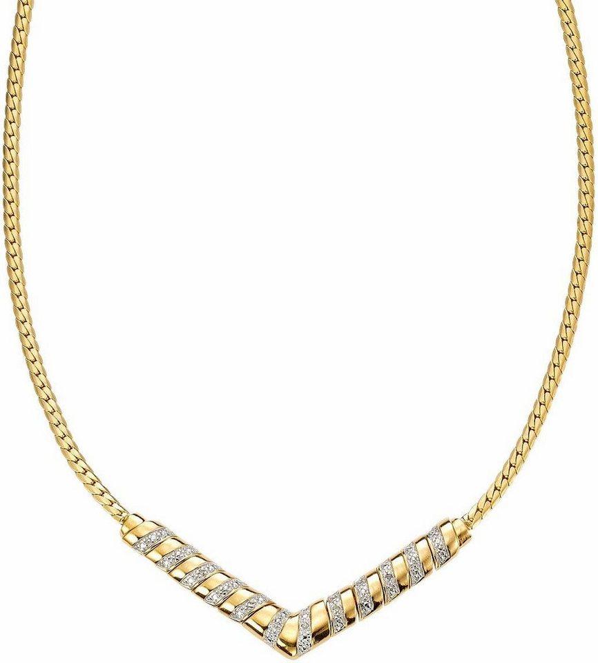 Vivance jewels Collier mit Diamanten in Silber 925-goldfarben