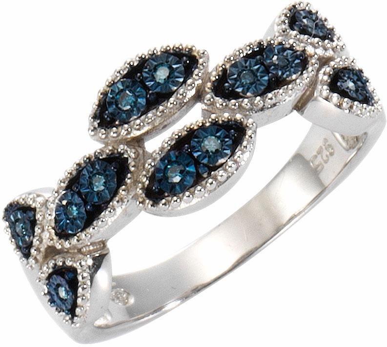Vivance jewels Diamantring mit Diamanten in Silber 925-blau