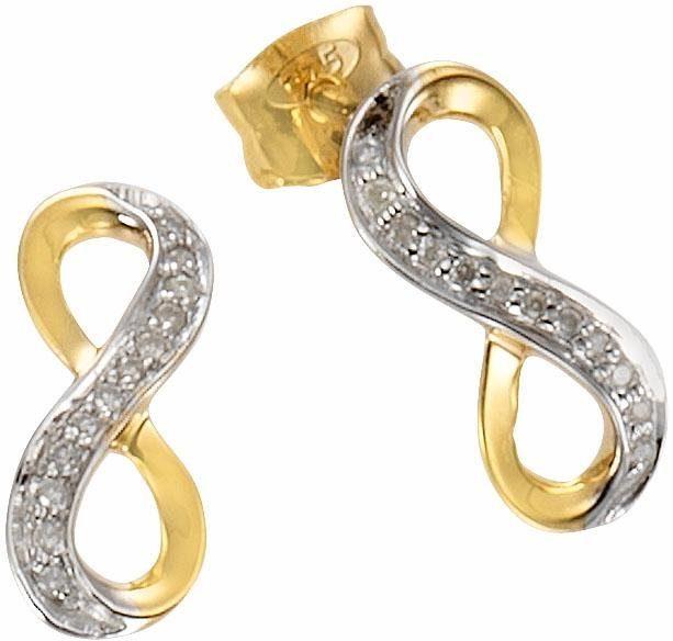 Vivance jewels Paar Ohrstecker »Infinity« mit Diamanten