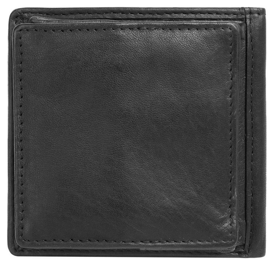 BODENSCHATZ Leder Geldbörse in schwarz