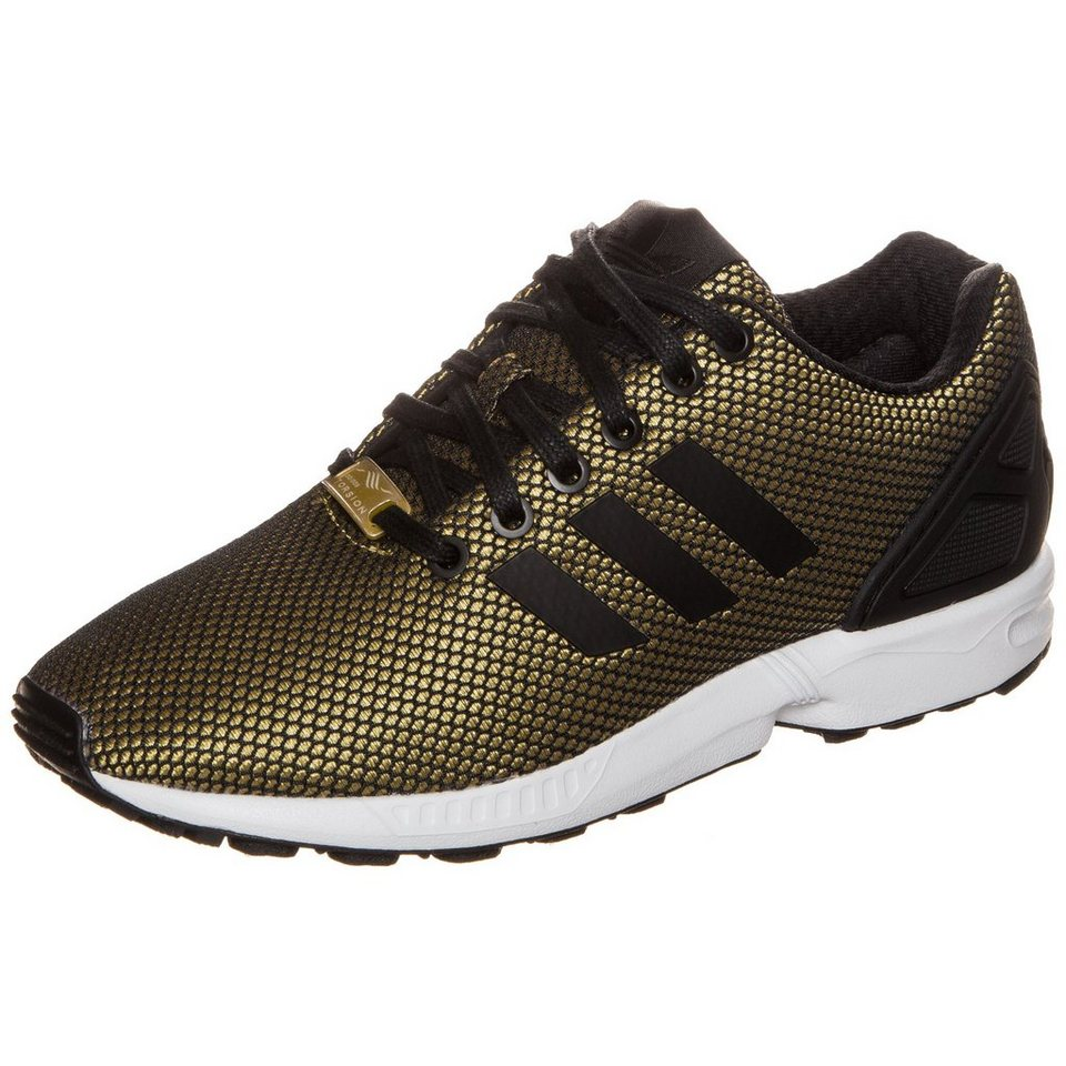 adidas Originals ZX Flux Sneaker Damen in gold / schwarz