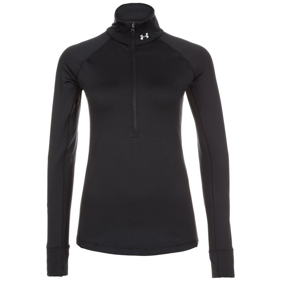Under Armour® ColdGear Armour Trainingsshirt Damen in schwarz
