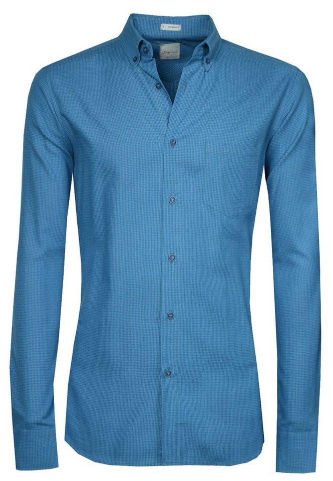 Signum Leicht flanelliges Hemd mit Button-Down-Kragen in daphne