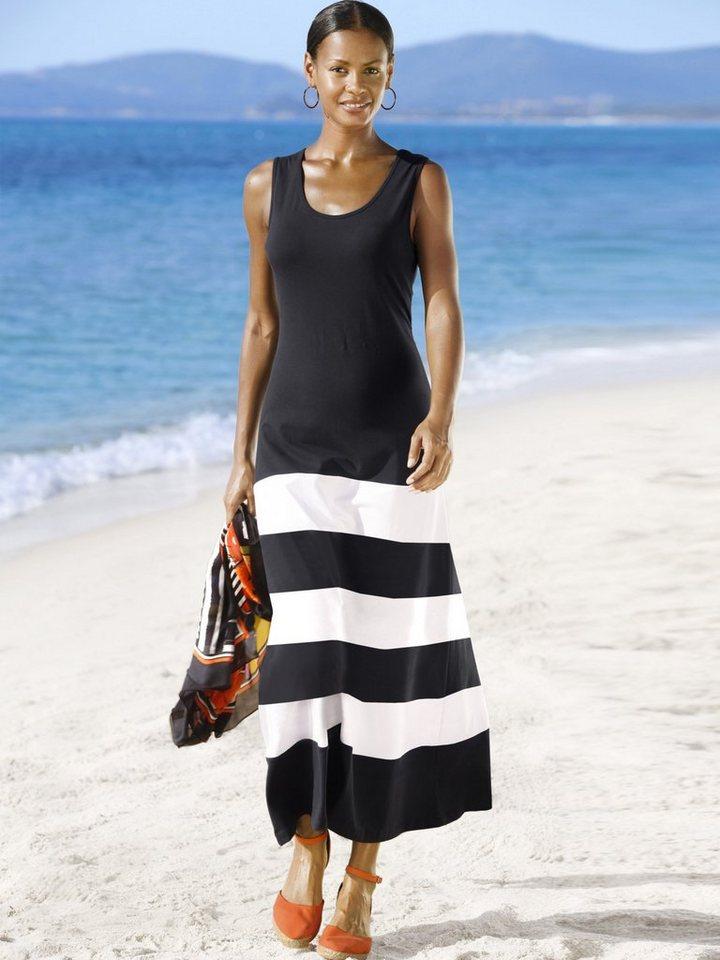 Alba Moda Beachkleid in schwarz/weiß