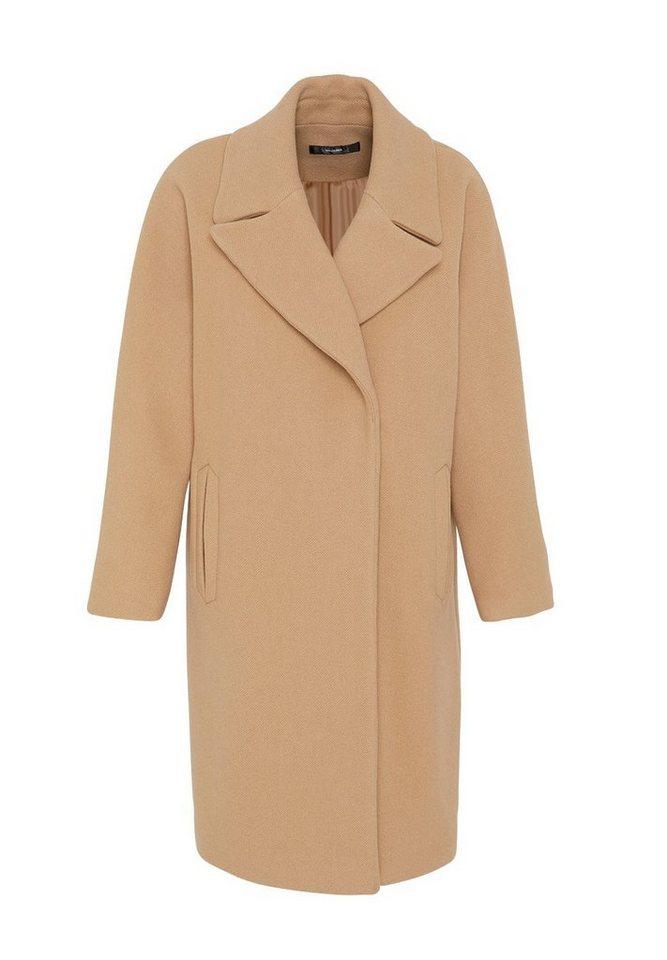 HALLHUBER Oversize Mantel aus Woll-Jersey in camel