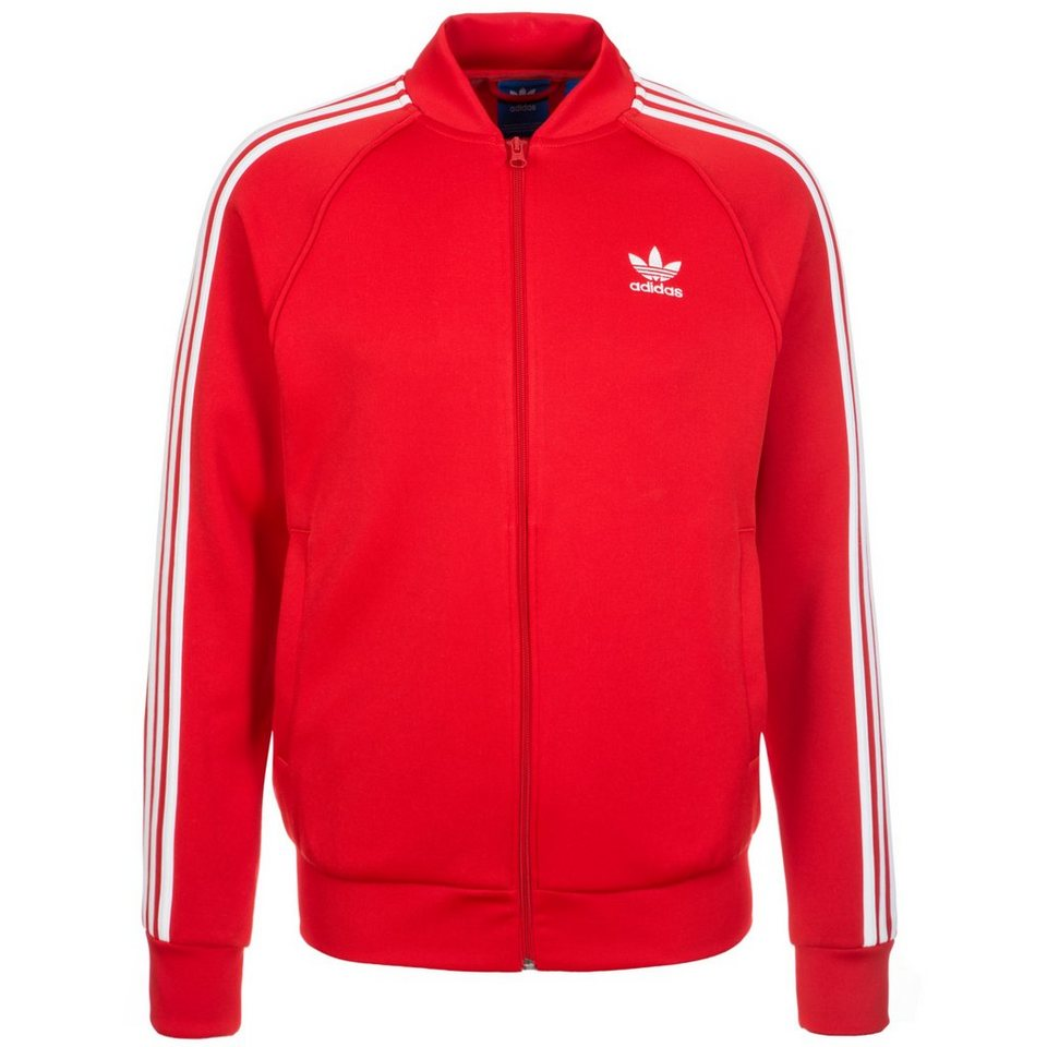 adidas Originals Superstar Track Top Jacke Herren in rot / weiß