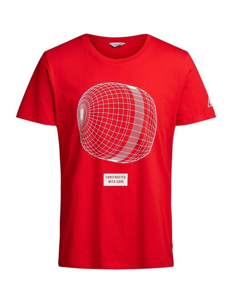 Jack & Jones Grafik-Oversize- T-Shirt in Fiery Red
