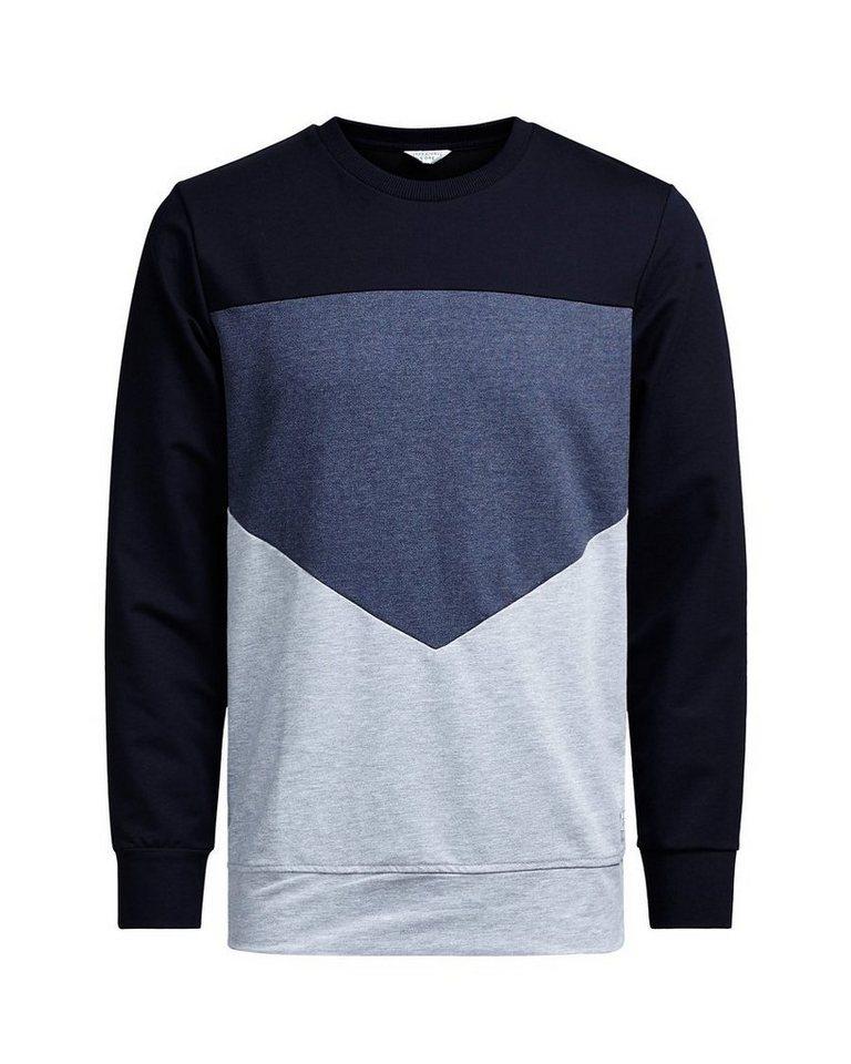 Jack & Jones Rundhalsausschnitt- Sweatshirt in Navy Blazer 2