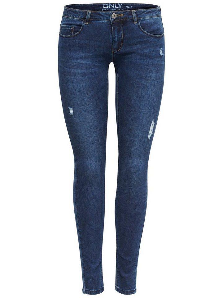 Only Coral sl Skinny Fit Jeans in Dark Blue Denim