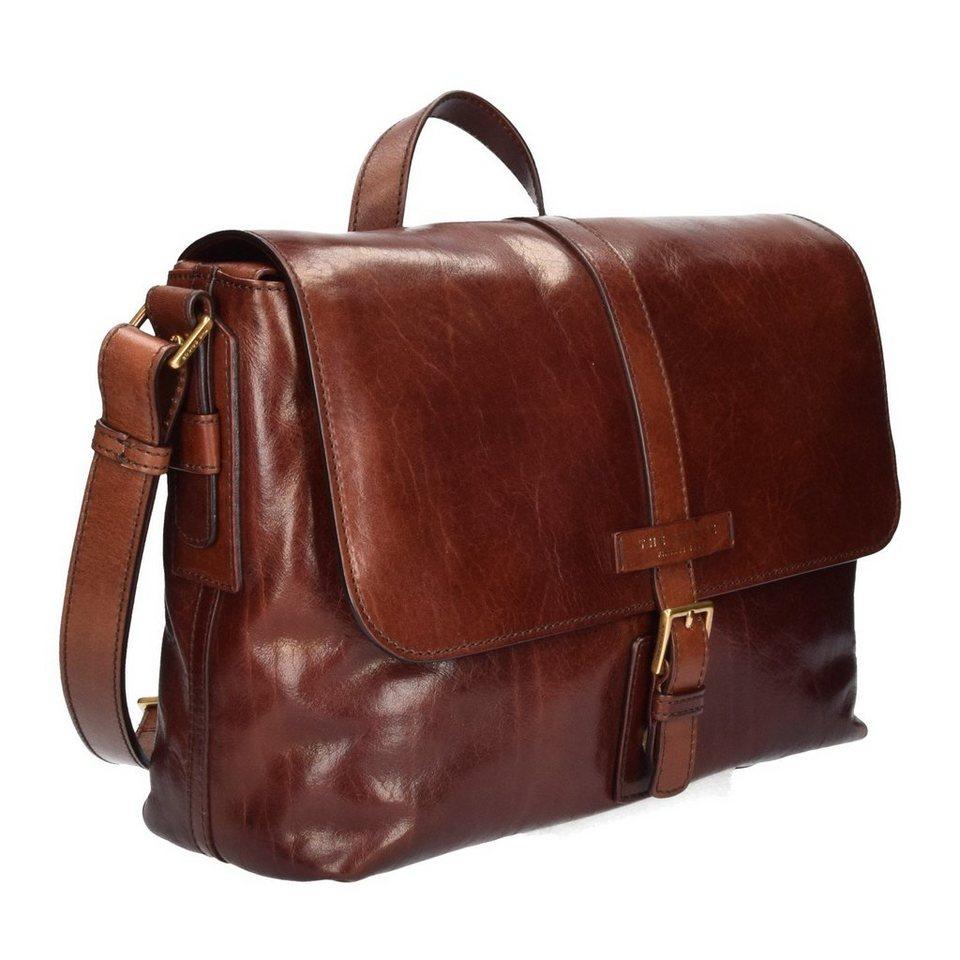 The Bridge Marcopolo Viaggio Messenger Tasche Leder 37 cm in marrone
