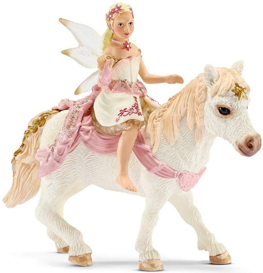 Schleich® Spielfigur, »bayala, Lilienzarte Elfe, auf Pony reitend«