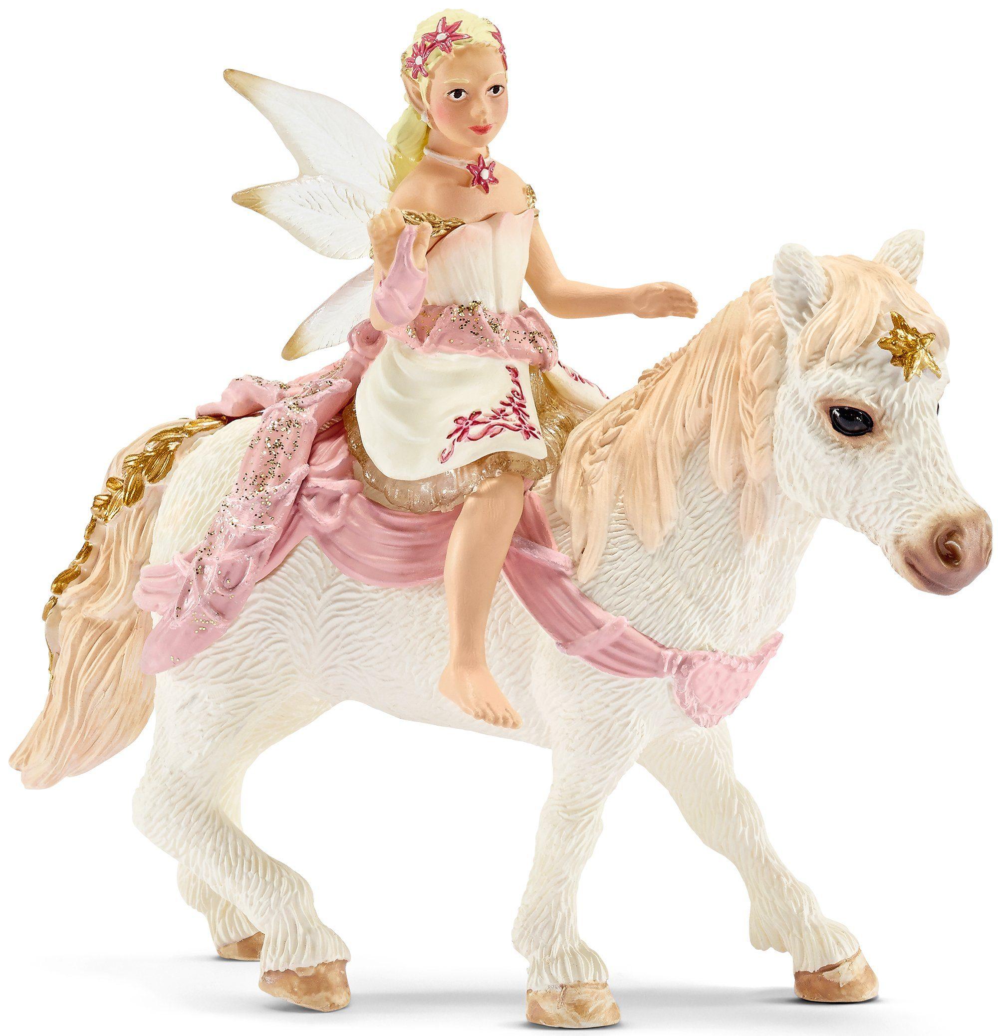 Schleich® Spielfigur (70501), »bayala, Lilienzarte Elfe, auf Pony reitend«