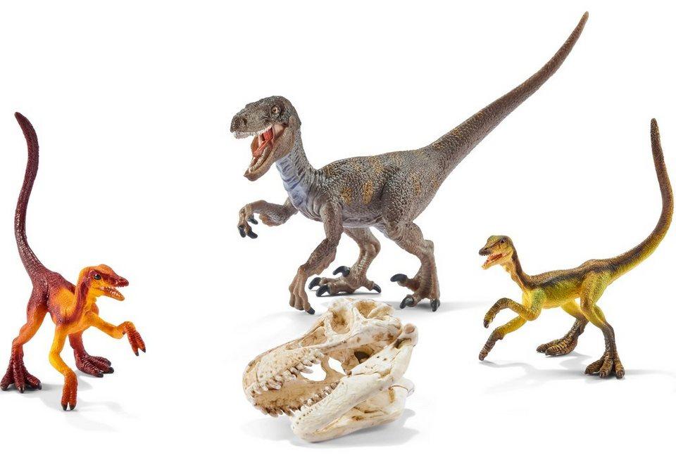 Schleich® Spielfigur (42259), »Dinosaurs, Velociraptor auf der Jagd«