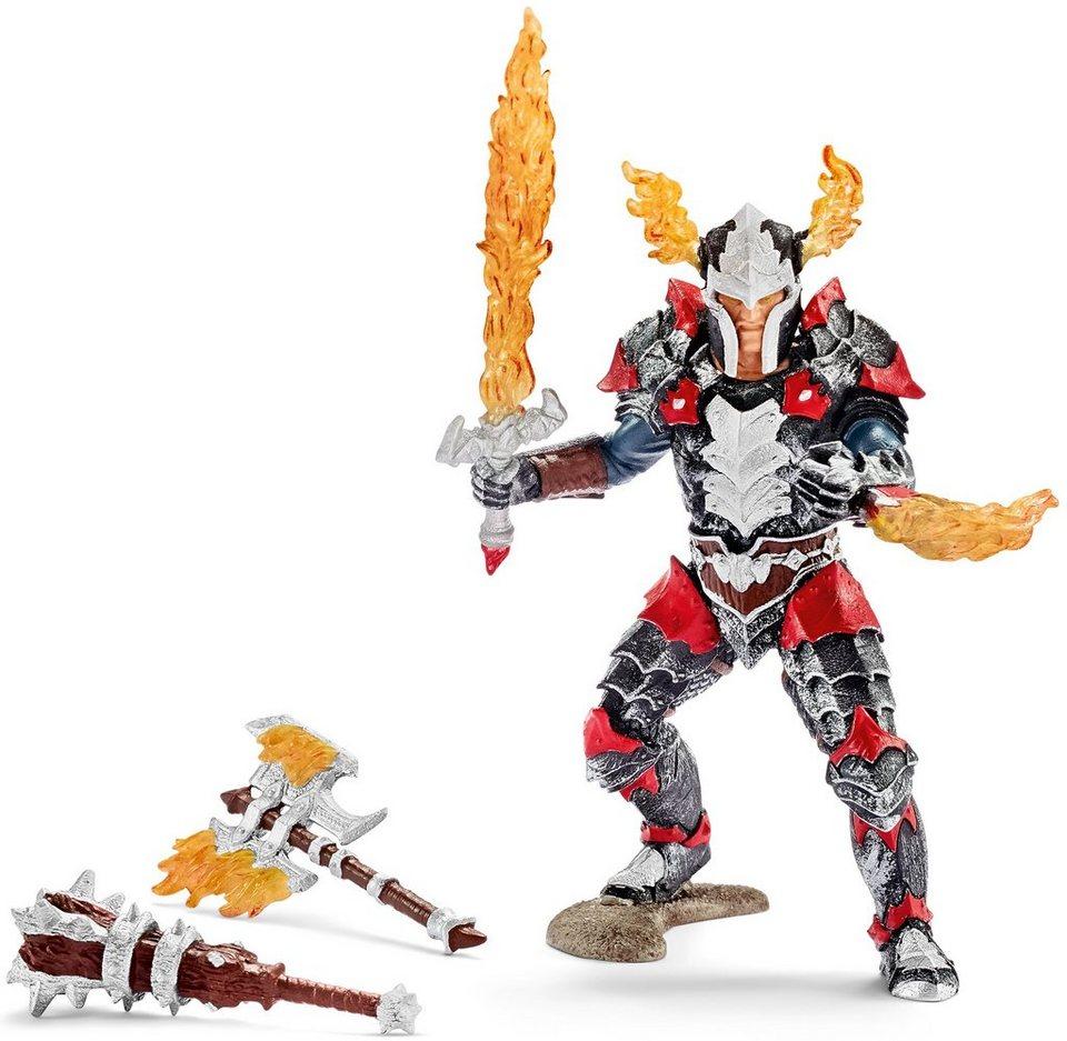Schleich® Spielfigur, »Eldrador. Drachenritter Held Xyrok mit Waffen«