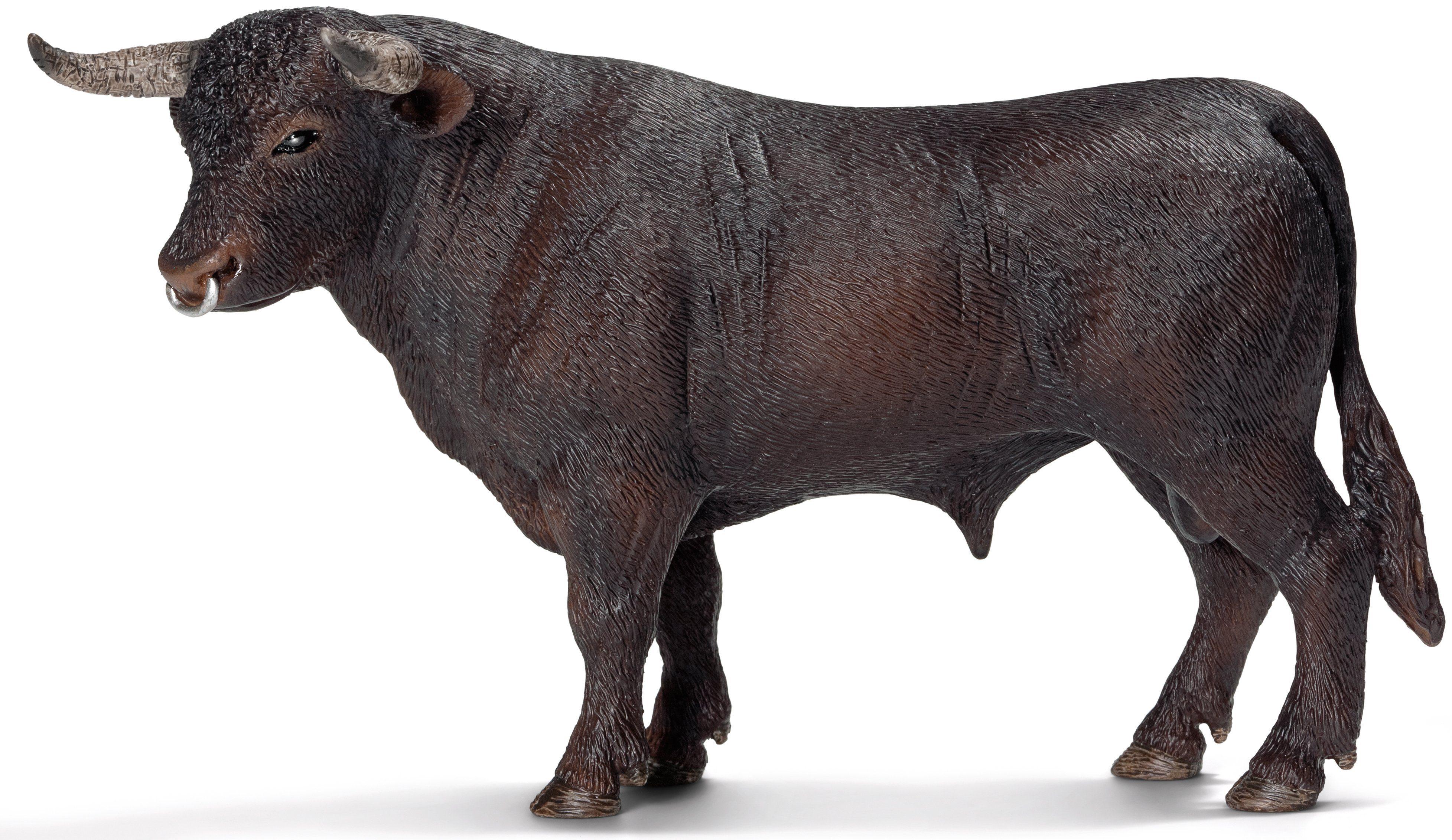 Schleich® Spielfigur (13722), »Farm World, Schwarzer Stier«