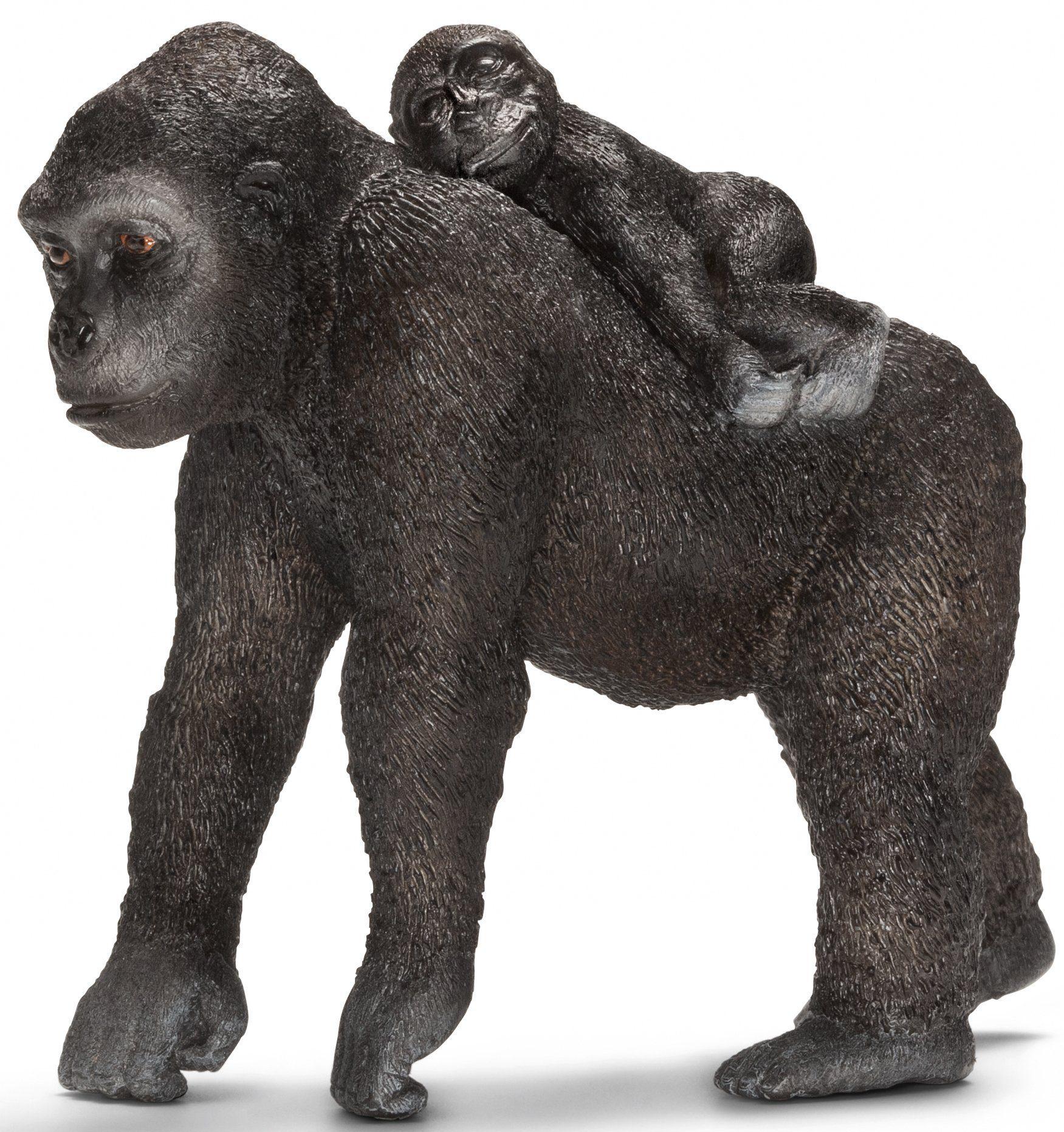 Schleich® Spielfigur (14662), »Wild Life, Gorilla Weibchen mit Baby«