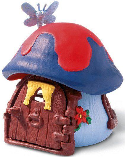 Schleich® Spielfigur, »Schlümpfe, Kleines Schlumpfhaus, blau«