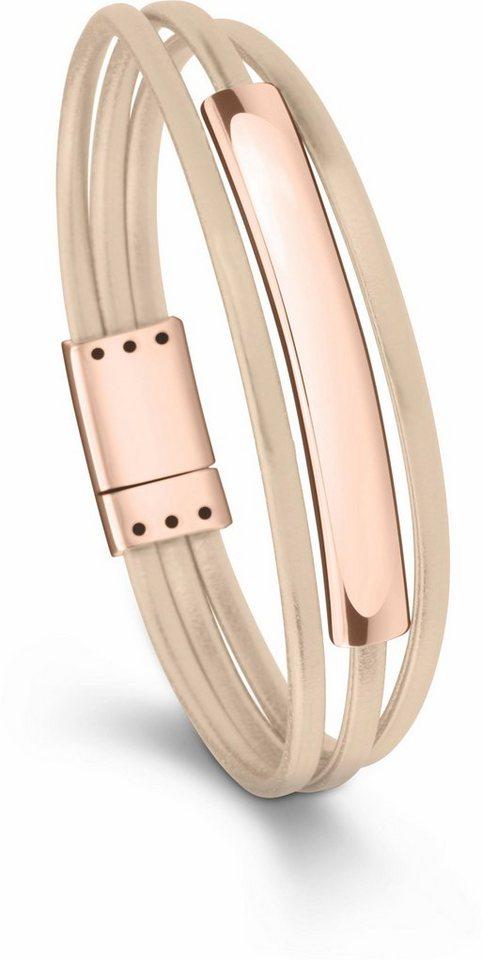 Tamaris Lederarmband »Amalia, A06832320« in roségoldfarben-nude