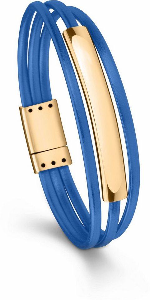 Tamaris Lederarmband »Amalia, A06831240« in goldfarben-blau