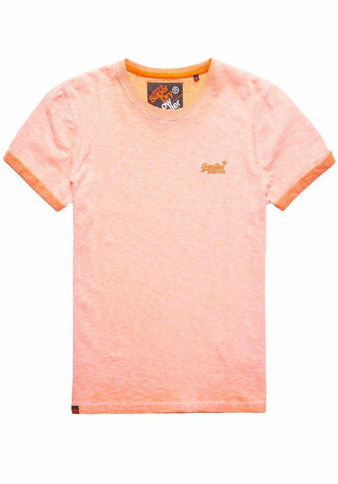 Superdry T-Shirt »LOW ROLLER TEE« in neonorange