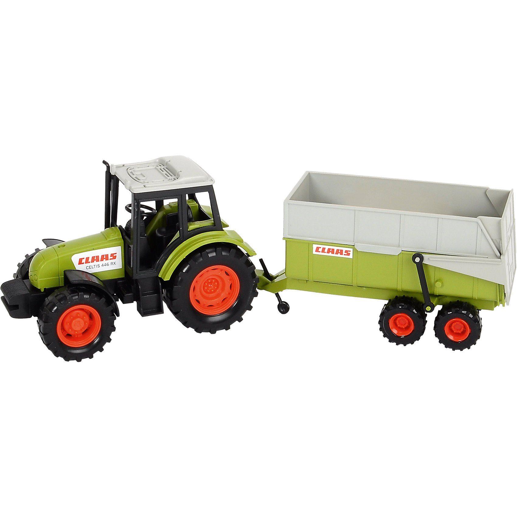 Dickie Toys Claas Traktor mit Anhänger