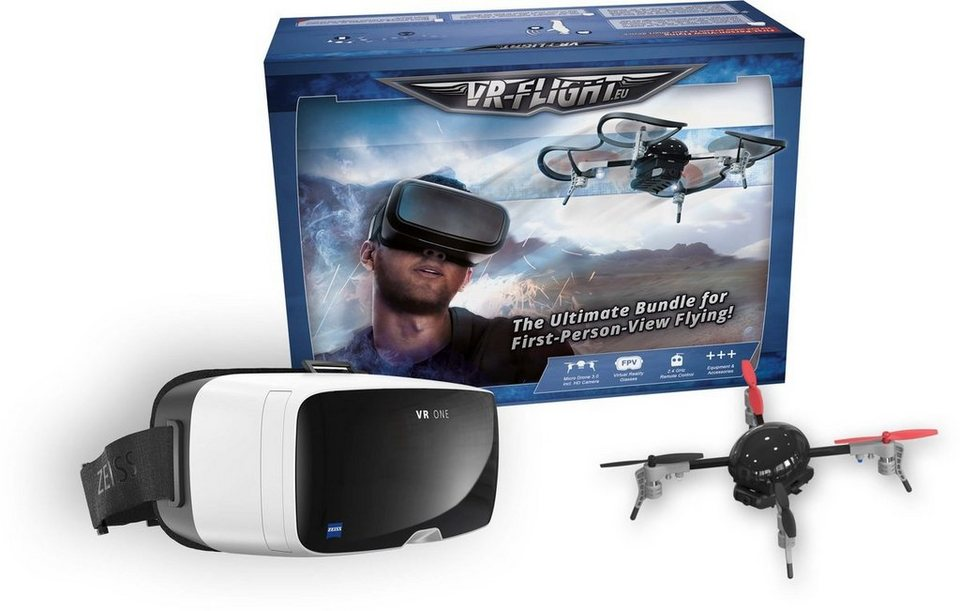 OneButton Drohne »VR Flight (Micro-Drohne+Zeiss VR ONE Plus)« in Schwarz