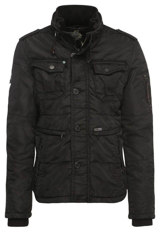 khujo Fieldjacket »REXO« in schwarz