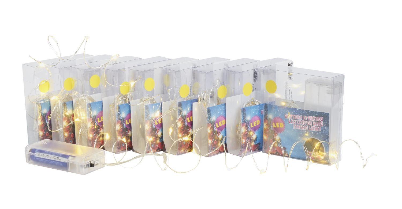 VBS Großhandelspackung 10 Micro-LED-Lichterkette warmweiß