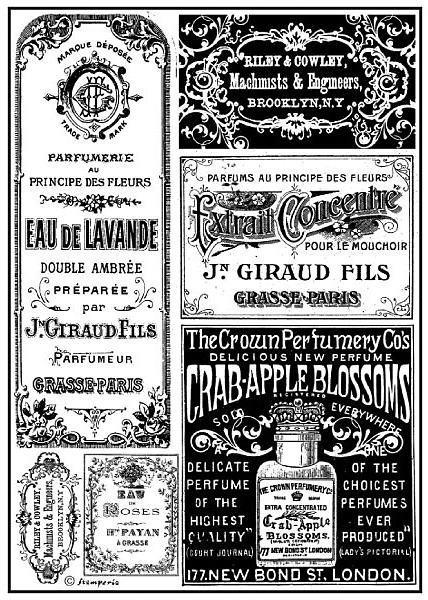 """Stamperia Motiv-Strohseide """"Antique-Tags"""""""