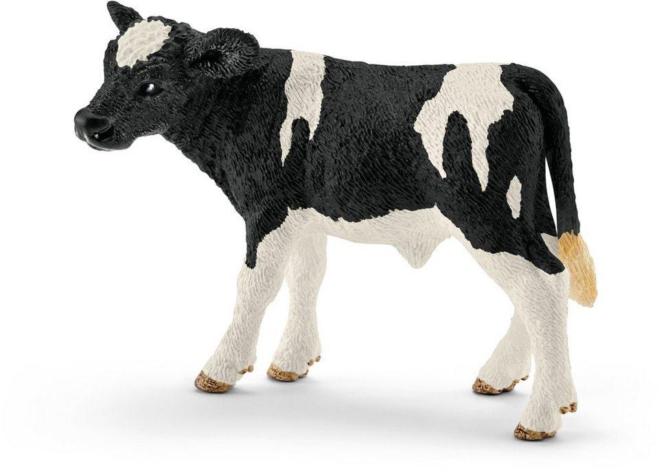 Schleich® Spielfigur (13798), »Farm World, Kalb Schwarzbunt«