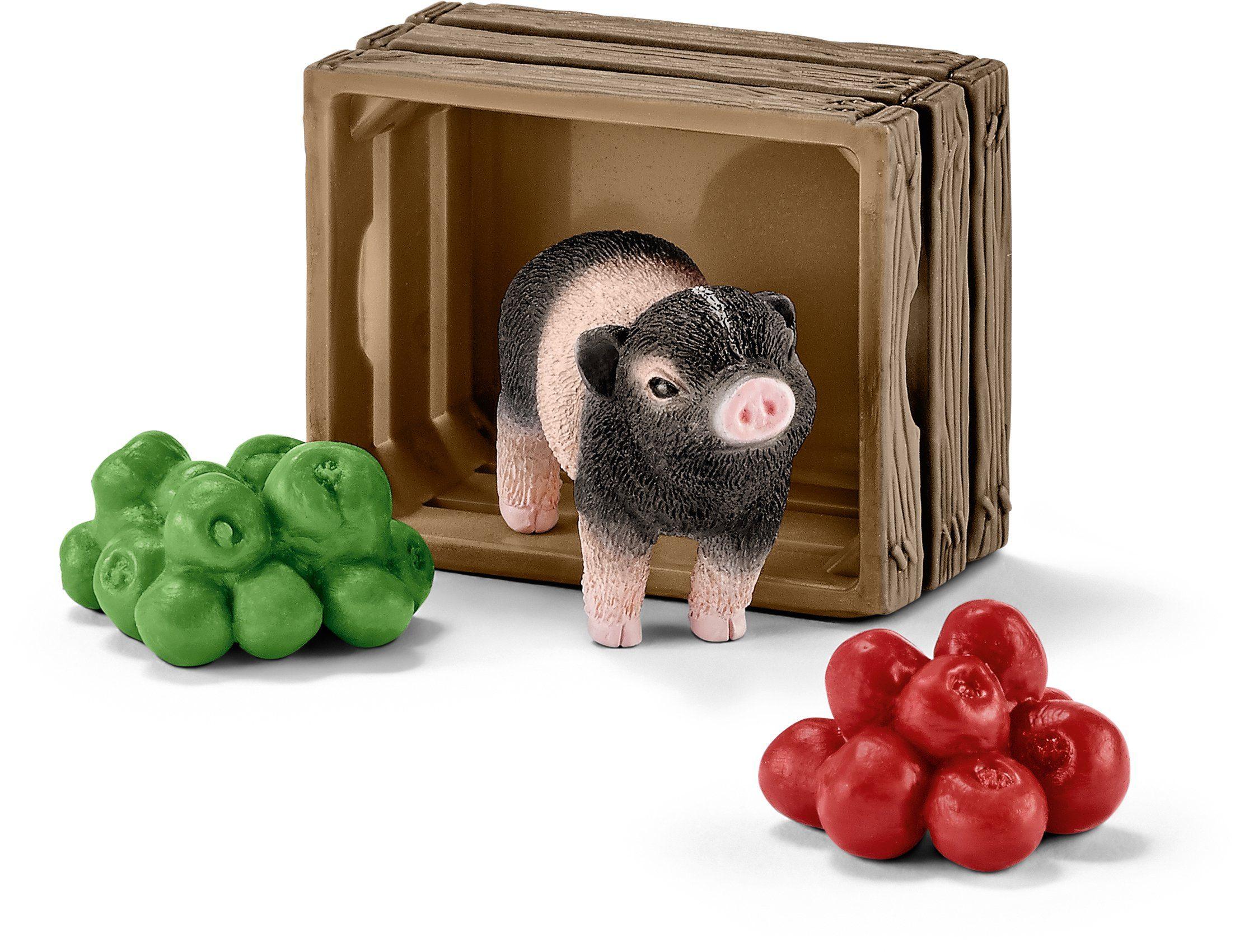 Schleich® Spielfigur (42292), »Farm World, Mini-Schwein mit Äpfeln«