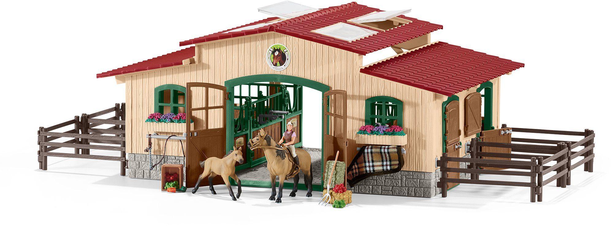 Schleich® Spielset (42195), »Farm World, Pferdestall mit Pferden und Zubehör«