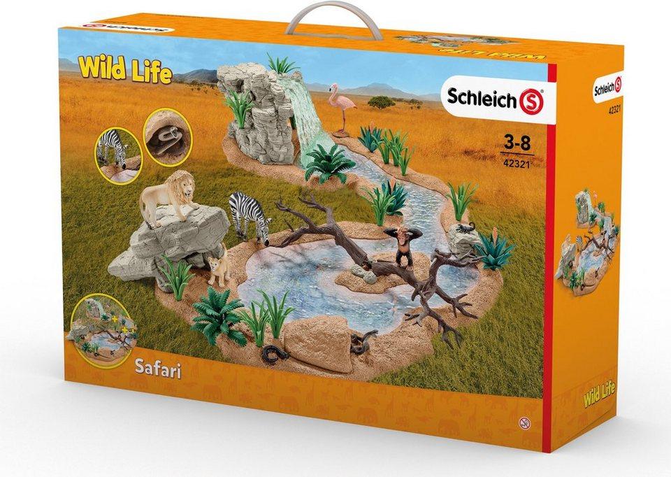 Schleich® Spielset, »Wild Life, Große Abenteuer Wasserstelle«