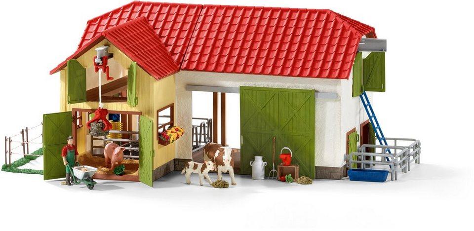 schleich spielset 42333 farm world gro er bauernhof mit tieren und zubeh r online kaufen. Black Bedroom Furniture Sets. Home Design Ideas