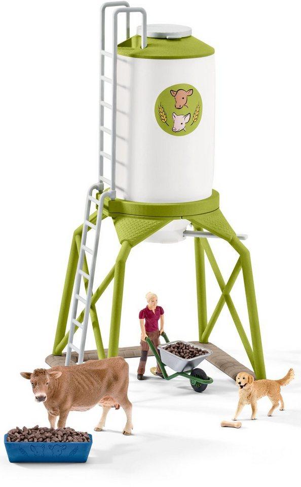 Schleich® Spielset, »Farm World, Futtersilo mit Tieren«