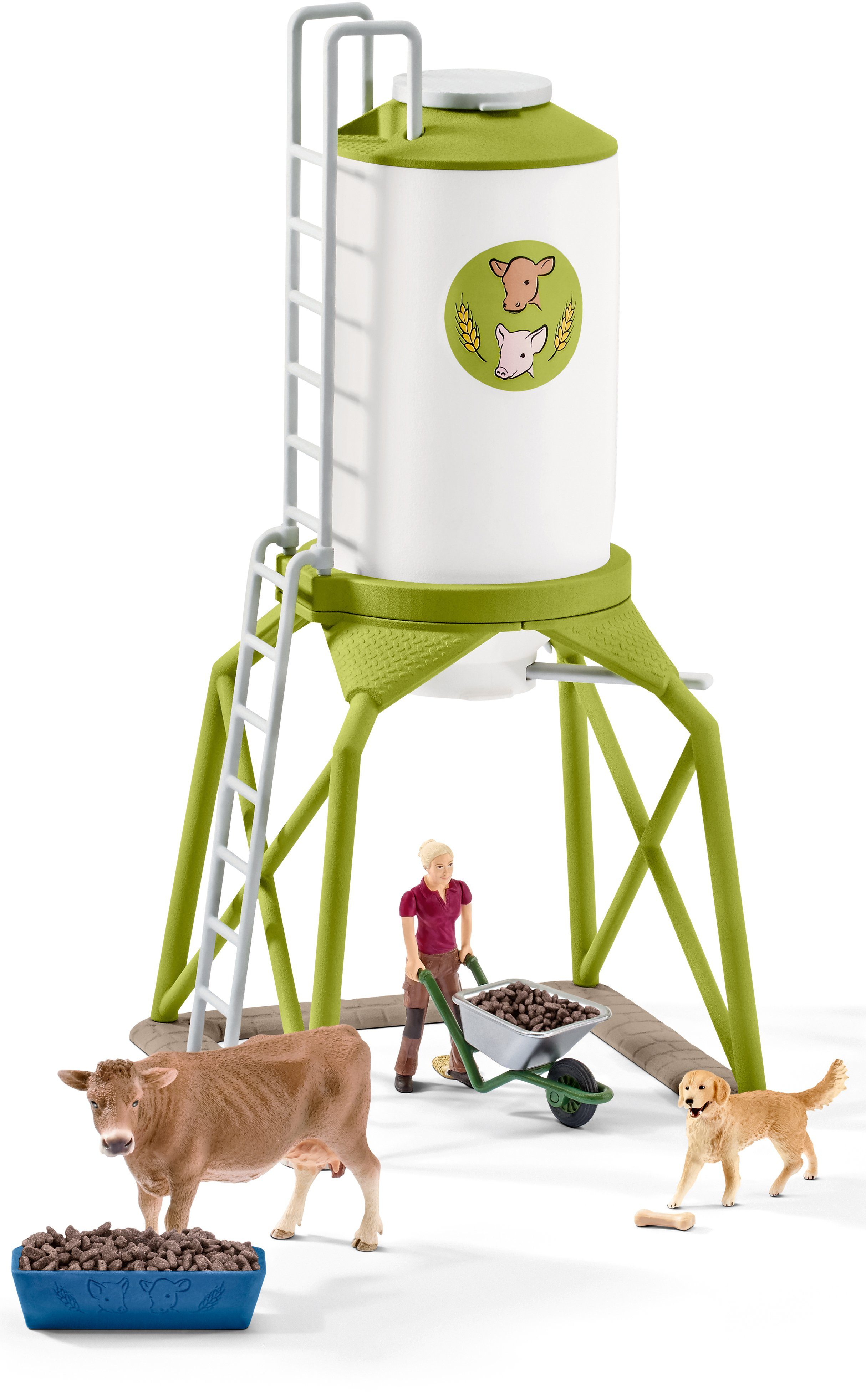 Schleich® Spielset (41429), »Farm World, Futtersilo mit Tieren«