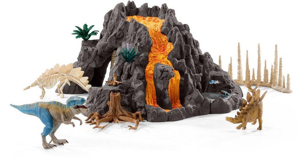 Schleich® Spielset (42305), »Dinosaurs, Riesenvulkan mit T-Rex«