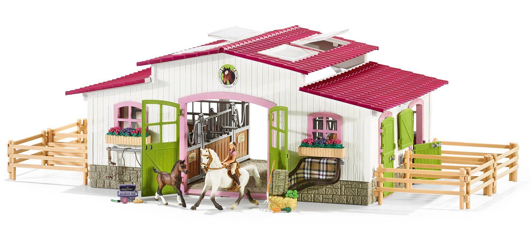 Schleich® Spielset (42344), »Horse Club, Reiterhof mit Reiterin und Pferden«