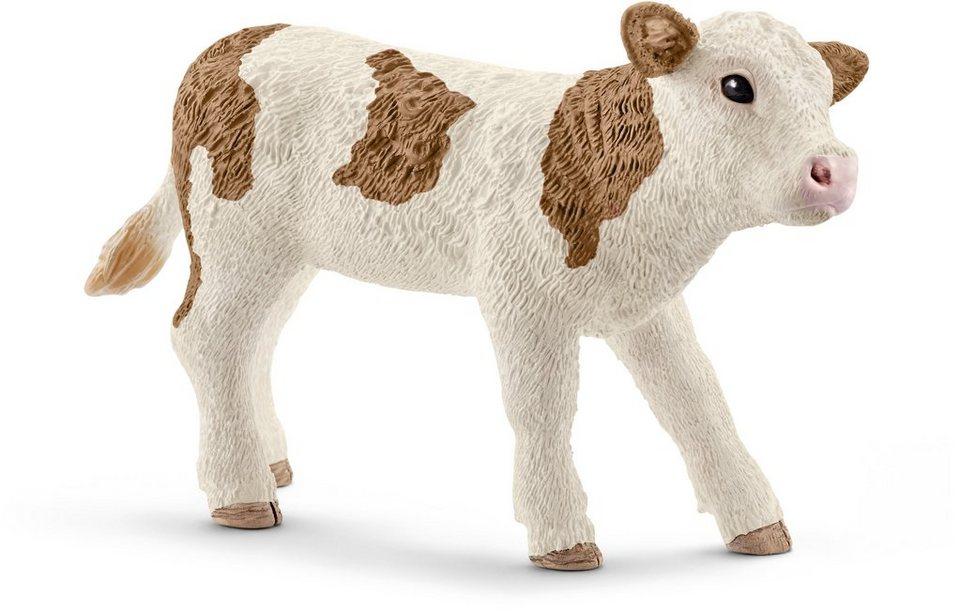 Schleich® Spielfigur, »Farm World, Fleckvieh-Kalb«