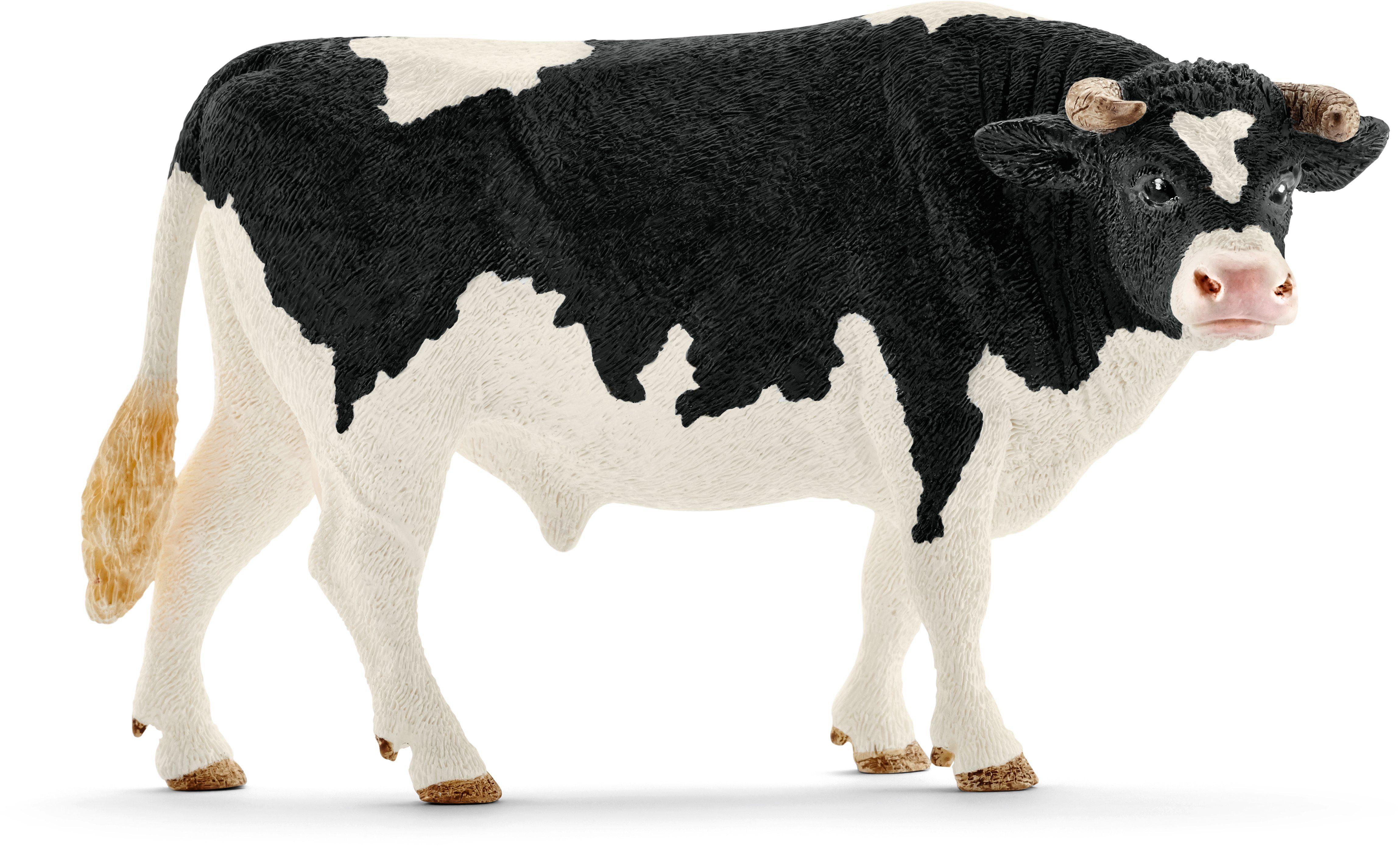 Schleich® Spielfigur (13796), »Farm World, Bulle Schwarzbunt«