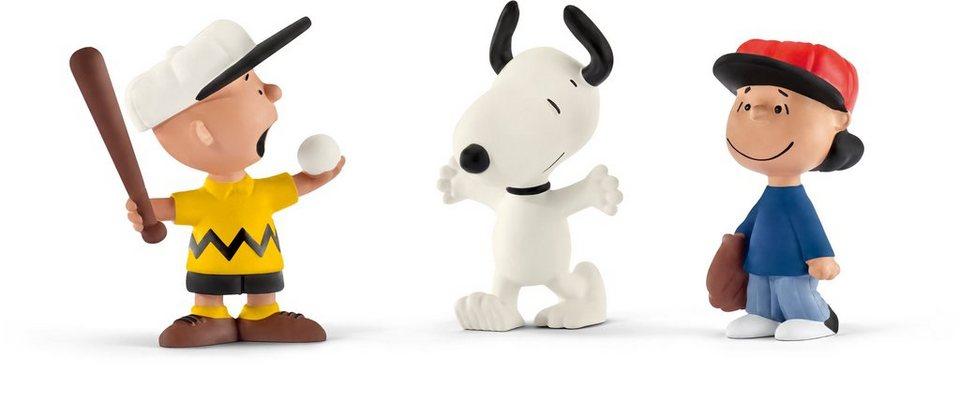 Schleich® Spielfiguren Set, »Peanuts, Scenery Pack Baseball«