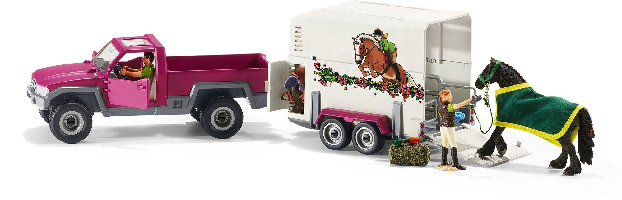 Schleich® Spielset (42346), »Horse Club, Pick-up mit Pferdeanhänger«