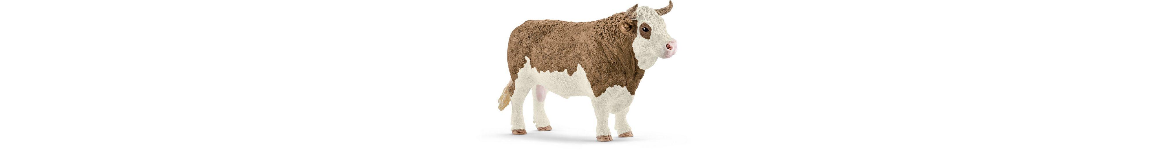 Schleich® Spielfigur, »Farm World, Fleckvieh-Bulle«
