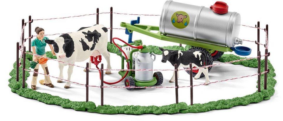 Schleich® Spielset (41428), »Farm World, Kuhfamilie auf der Weide«