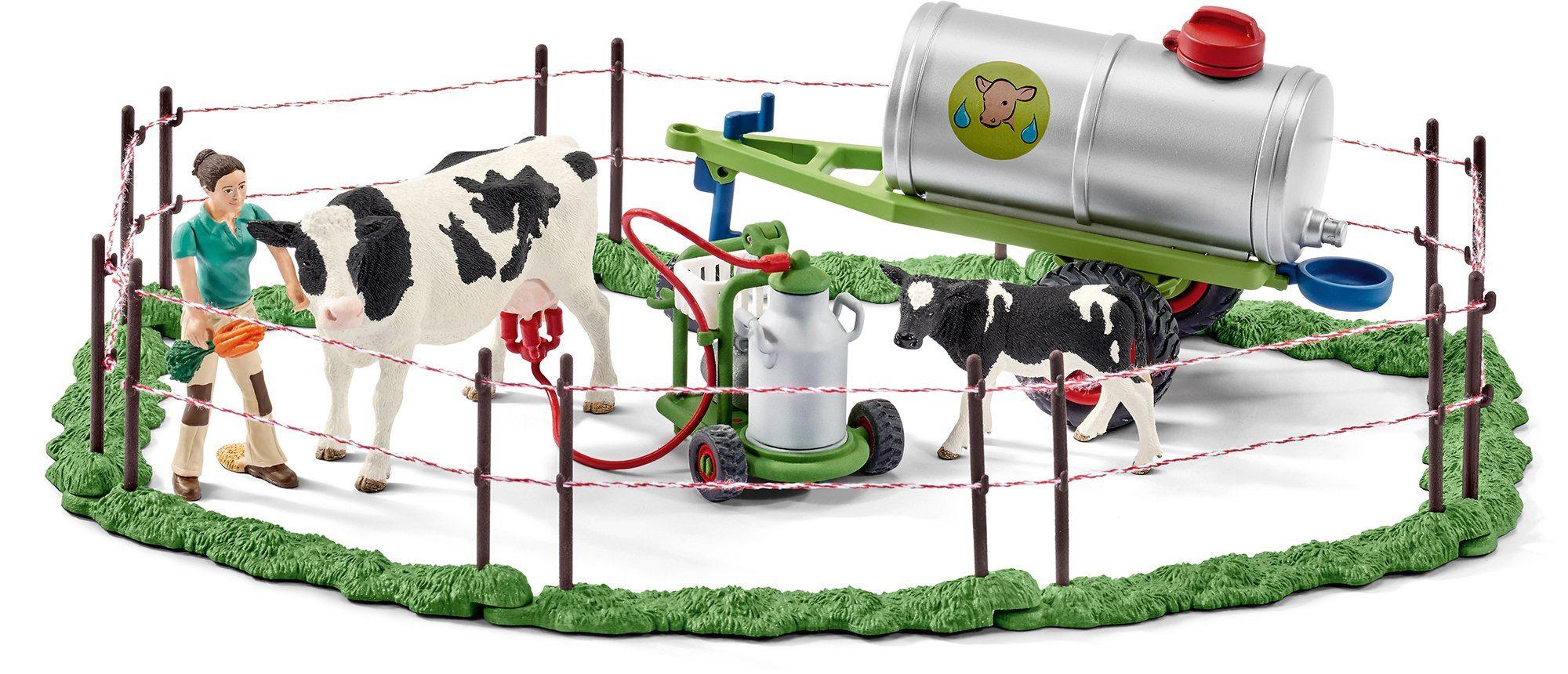 Schleich® Spielset, »Farm World, Kuhfamilie auf der Weide«