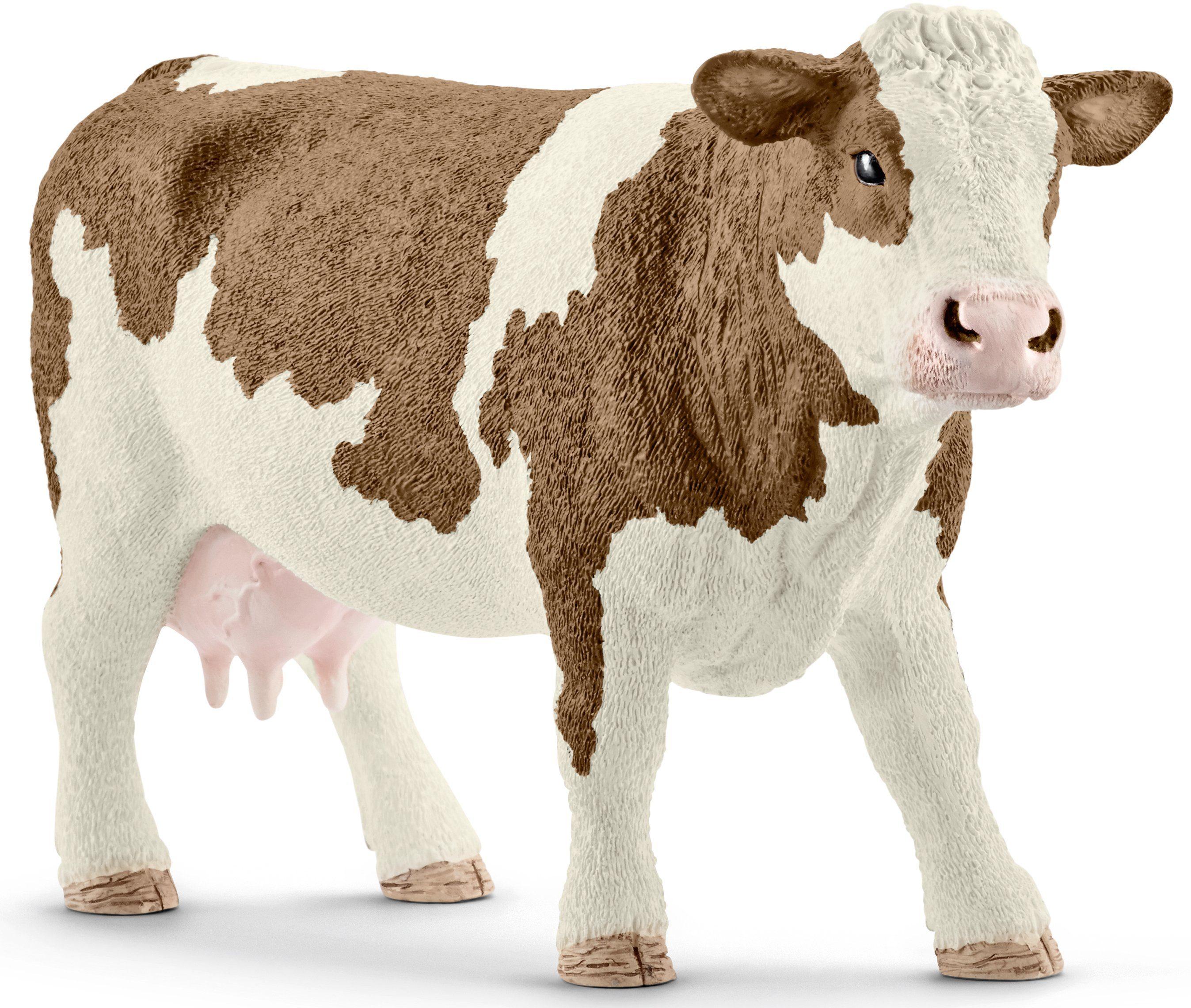 Schleich® Spielfigur (13801), »Farm World, Fleckvieh-Kuh«