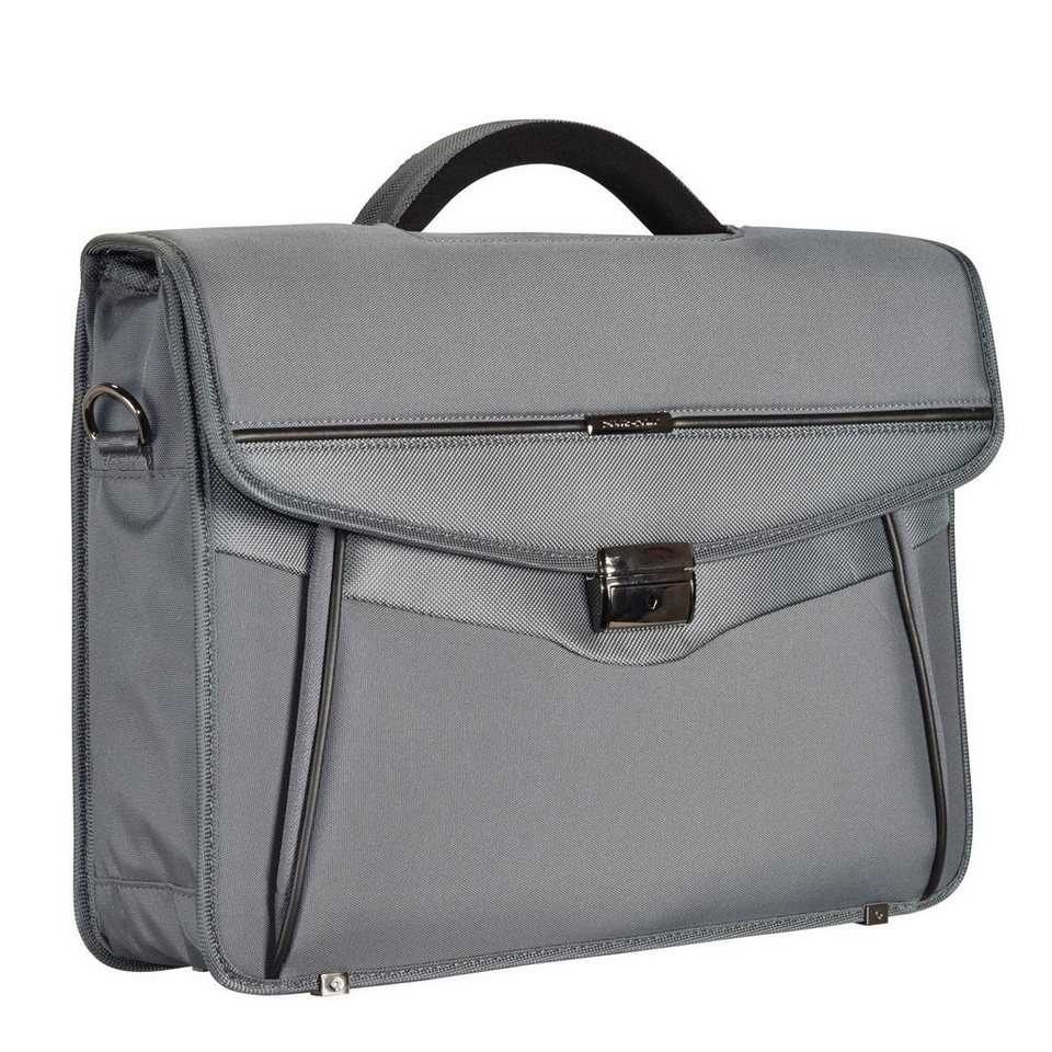 Samsonite Desklite Aktentasche Briefcase 42 cm Laptopfach in grey