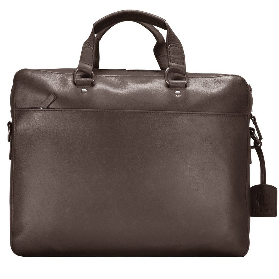Leonhard Heyden Dakota Aktentasche Leder 38 cm Laptopfach in braun